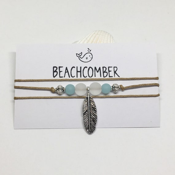 boho jewelry sea glass wrap bracelet, beachcomber beach anklet choker, gift for her