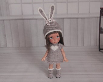 Pukifee grey bunny outfit