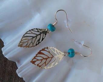 Turquoise Leaf Earrings