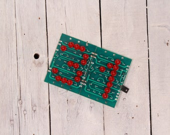 Vintage circuit board, Circuit board number, Electronic digits, 31 digit, Assemblage supply, Steampunk, Wall hanging number, Electronic part