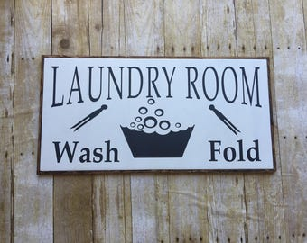 Wood Sign, Laundry room, Custom Sign, Wash and fold, Laundry Room Farmhouse Sign, shiplap, Wash, Fold  [Follow me on Instagram]