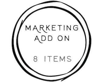 Add-on '8 Marketing Items to any Logo Design' // Solipandi Design Studio
