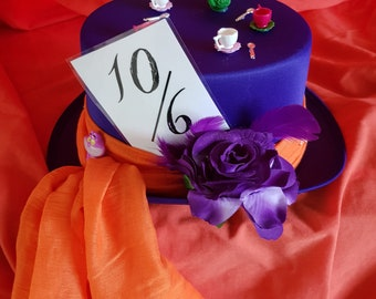 New one off mad hatter Purple top hat (190)