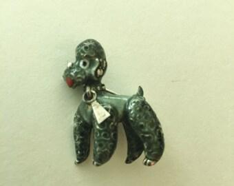 Vintage German Sterling Signed Alice Caviness   poodle brooch