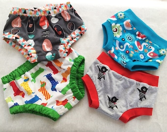 Baby Over Pants pdf sewing pattern, easy pattern for baby boy & girl diaper cover.