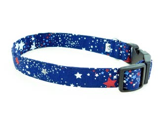 Blue Stars 4th of July Independence Day Dog or Cat Collar