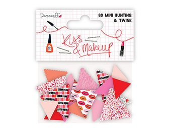 Kiss & Make Up Mini Bunting