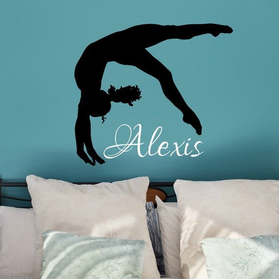 Gymnastic Wall Art Gymnastic Wall Decal Gift For Gymnast