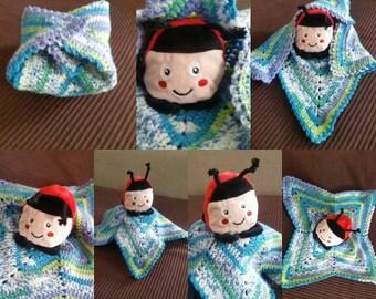 Blanket plush Ladybug