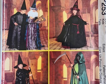 Wizard Costumes for Boys, Girls Witch, Harry Potter, Grim Reaper, Magician, Sorcerer Kid Design, Costume Sewing Pattern, Reenactment Cosplay