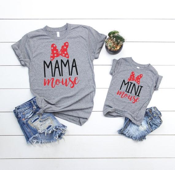 Mama Mouse Mini Mouse Matching Shirt Set // Mommy And Me Shirt Set // Matching Vacation Shirts // Vacation Shirt Set FelgTS9cUI