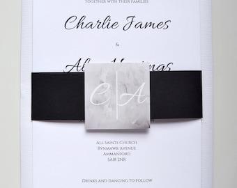 Allura Classic Wedding Invitation Set