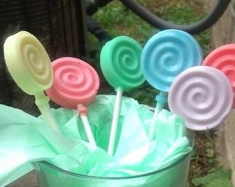 lollipop soaps, bath, body, kids soap, glycerin soap, handmade soap, lollipops, soap