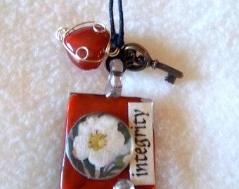 Integrity / Reclaim Healing Art Necklace, No.10