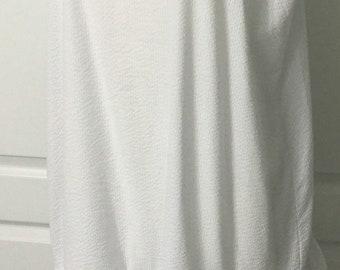 Sassy Rags large-xlarge bright white ruffle slip dress