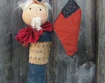 Primitive Uncle Sam Americana stocking doll Yankee Doodle Dandy E Pattern - Free Shipping; Hafair; OFG; MHA; TeamHAHA; ADO; Haguild; Norga