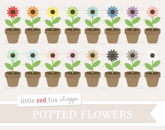 Potted flower clipart flower clip art spring clipart garden mightylinksfo