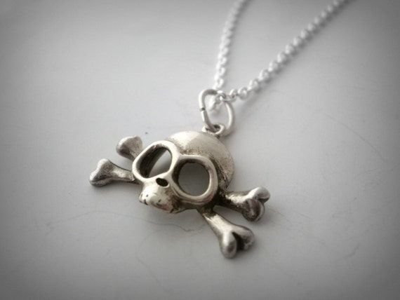 Sterling silver skull pendant skull and bones pendant sterling silver skull pendant skull and bones pendant headbone pendant pirate skull pendant mozeypictures Image collections
