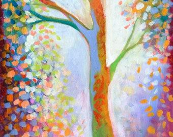 Modern Tree Art - Reaching for the Stars - Fine Art Print by Jenlo