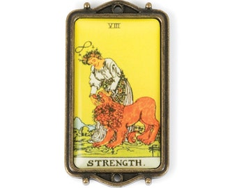 Tarot Card Pendant - Strength (STEAM209)