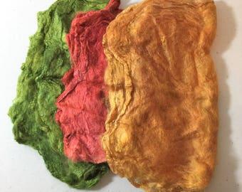 Silk Hankies, Matawa Silk Hankies, Felting Supplies