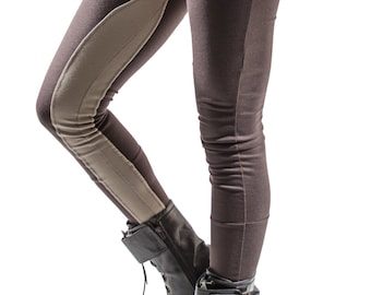 Structured Leggings with contrast chap