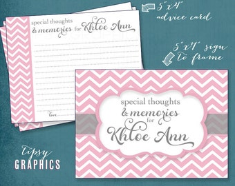 Fancy Chevron Advice & Well Wishes.  Printable Cards. Any colors by Tipsy Graphics. Great for Recipe cards too