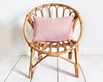 Lovely Vintage French Wicker Kids Chair || Bohemian Retro Decor