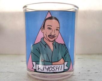 Kiyoshi Kuromiya Glass Votive Candle // LGBTQ Altar andle