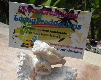 All natural white coral beach decoration from Kauai