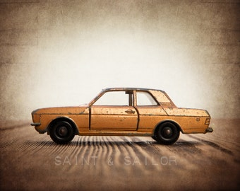 Boys Room Art – Vintage Matchbox Orange Ford Cortina   Photo Print – Multiple Sizes Available