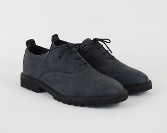 Washed Nubuck Oxford Shoes