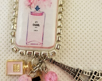 Chanel Domino Purse Charm/ Key Chain/ Altered/ One of a Kind