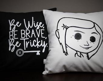 Coraline Inspired Handmade Pillows