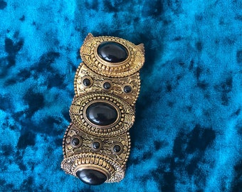 Gold and Black Ancient Egyptian Style Bracelet