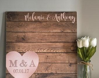 Wedding Guest Book - Guest Book Wedding - Rustic Wedding Guest Book - Unique Wedding Guestbooks - Wood Wedding Guest Book - Custom Book