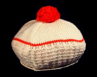 Vintage 70's Kid's Toddler Knit Hat