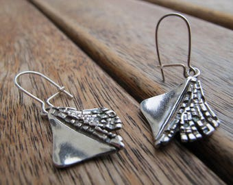 Silver Dangle Earrings, Sterling Silver Earrings,  Nature Earrings, Silver Earrings, UK Handmade