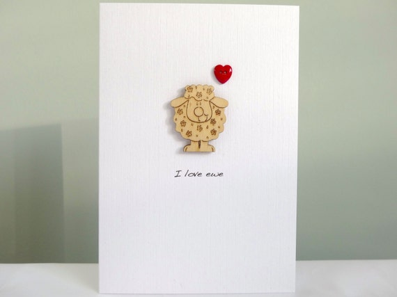 Sheep anniversary card funny romantic anniversary greeting