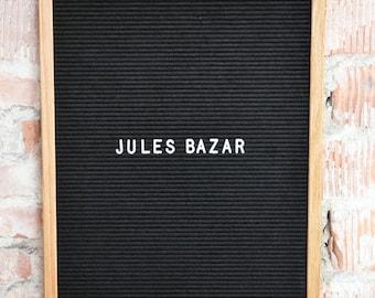 16x20 - XL Felt Letter Board - Black - 350 Letters & Numbers - Letterboard
