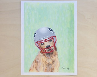 Golden Receiver: Patriot - Unframed 5x7 Limited Edition Giclee Print