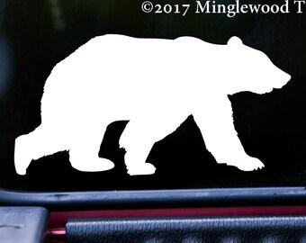 "BEAR 5"" x 2.5"" Vinyl Decal Sticker - Grizzly Black Kodiak Wilderness Polar *Free Shipping*"