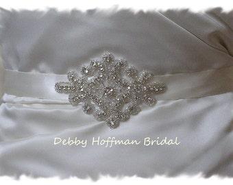 Rhinestone Crystal Bridal Sash, Jeweled Wedding Dress Belt, Beaded Wedding Sash, No. 1161S, Wedding Accessories, Bridesmaids Belts Sashes
