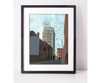 LoweLLIsh: Lowell MA, Lowell Print, Lowell Art, Giclee Print, Art Print, Wall Art, Pop Art, Wall Decor