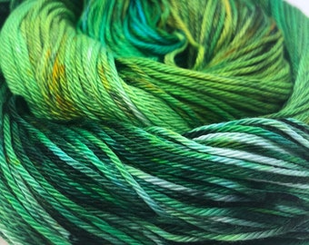 100% Pima Cotton DK Double Knit Hand Dyed Yarn Vegan Natural Orion Galaxy