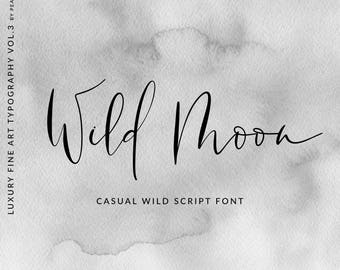 Calligraphy font modern calligraphy digital fonts wedding