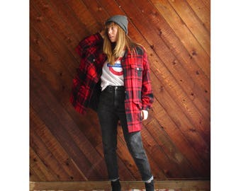 Buffalo Plaid Wool Lumberjack Jacket Coat - Vintage 90s - L/XL