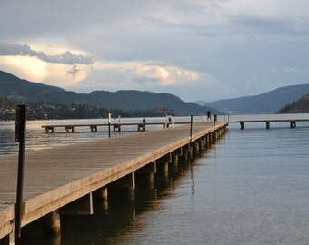 The dock at dusk on Kalamalka Lake, Vernon BC