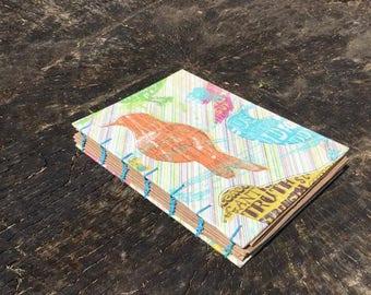 Coptic Bound Mini Journal - Dream Diary - Sketchbook - Craft Paper