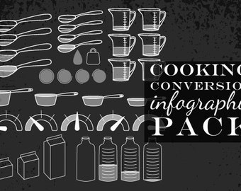 80% OFF SALE Cooking Recipe Clipart Vector Pack - Cooking Recipe Measurement Vectors - Cooking Clipart Set Baking Clipart Recipe Clip Art